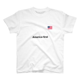 アメリカファースト T-shirts