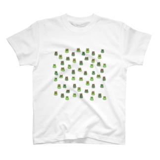 カエルいっぱい大集合 T-Shirt