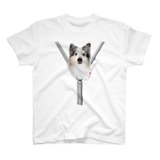 ジップデザイン Peace T-shirts