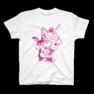 nakkiのRabbit Sweets P T-shirts
