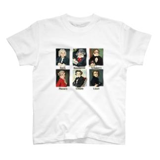 ドット 音楽室の肖像画 T-shirts