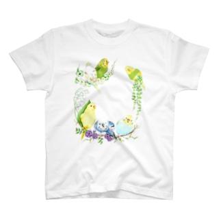 もりもりセキセイインコ T-shirts