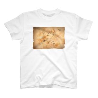 宝の地図(背景) T-shirts