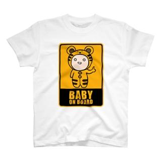 BABY on Board (トラ) T-shirts