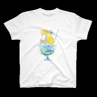 イラストレーター おおでゆかこのレモンかき氷 T-shirts