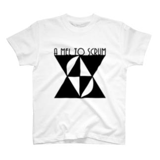 AMTSモノクロ T-shirts
