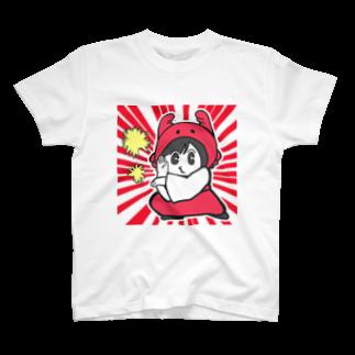 カニ巫女のしゅわっちカニ巫女 Tシャツ