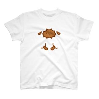 ちびもこさん(おてて付き)ブラウン T-shirts