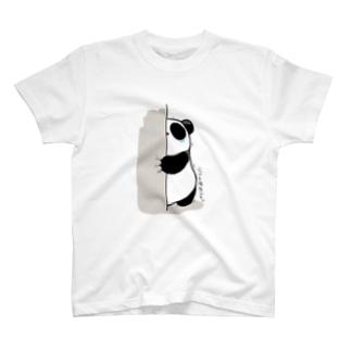 【もちぱんだ】強気もちぱんだ T-shirts