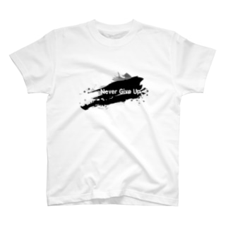 Never Give Up-1(文字白) T-shirts