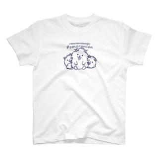 らんらんらんらんポメラニアン*M配置 T-Shirt
