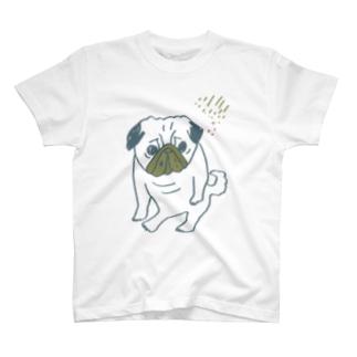パグ座り/しぶめ T-shirts