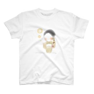 秋のおさげちゃん3 T-Shirt