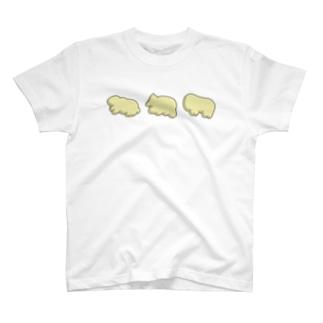 たべっ子どうぶつにレーザーカッターで文字を書き足す…! T-shirts