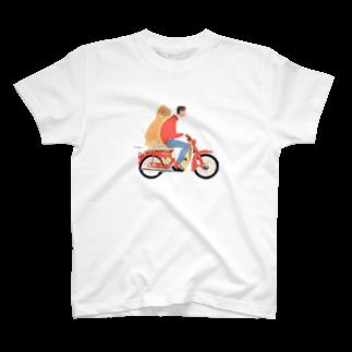 88nightsの自転車に乗る人と犬 T-shirts