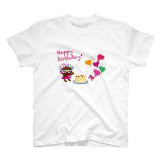 ガン黒クレコちゃんのハッピーバースデー T-shirts
