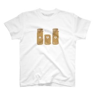 コーヒー牛乳三本セット T-shirts