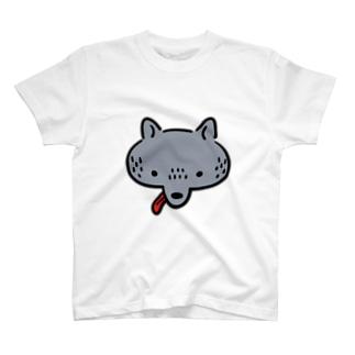 ベロ出しオオカミ T-shirts