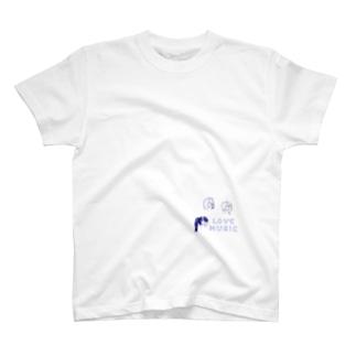 ヘッドホン男子&女子 T-shirts