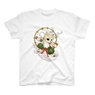 風犬雷犬図屏風 T-Shirt