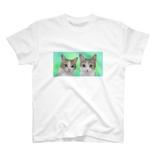 ツーショット チャビー君とジェミーちゃん T-shirts