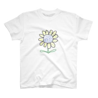 庭のひまわり T-shirts