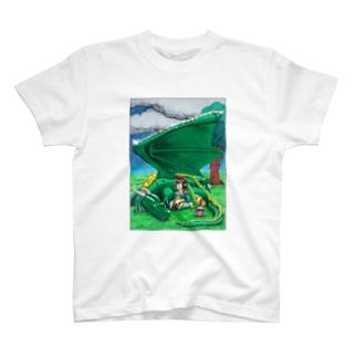 竜翼雨傘 T-shirts