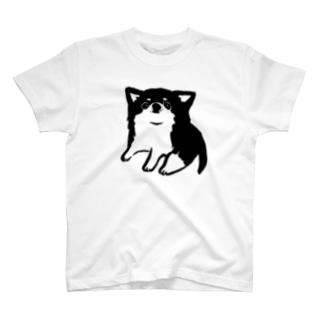 チワワ ベビー ブラック【せいこせんせい】 T-shirts