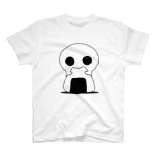 宇宙から来た白いやつ(おにぎりver) T-shirts