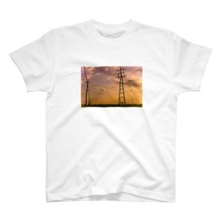 夕刻農道 T-shirts