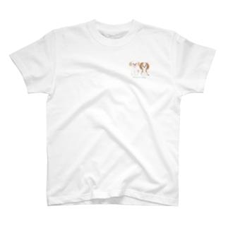 BeArtSuzumaruの【似顔絵】こむぎちゃん&つむぎちゃん専用 T-Shirt