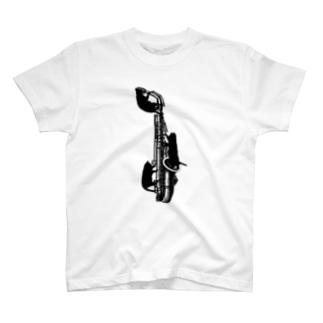 アルトサックスと黒猫 T-shirts