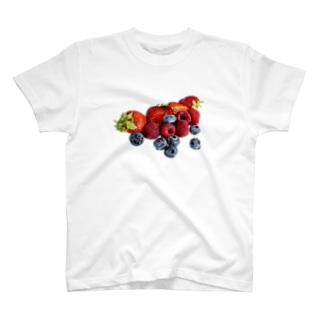 こぼれるWベリー🍓💜 T-shirts