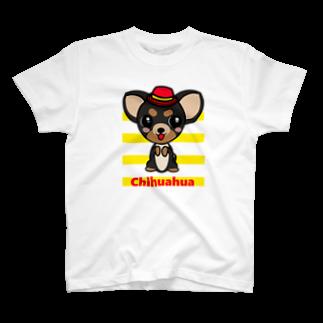 オリジナルデザインTシャツ SMOKIN'のちんちんチワワ T-shirts