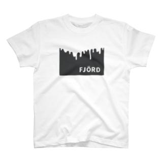 フィヨルドTシャツ(black) T-shirts