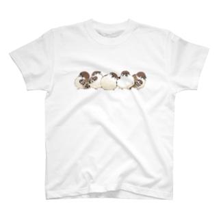 整列!すずめさん T-Shirt