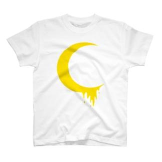 溶けだした月 T-shirts
