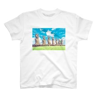 モアイ@サンメッセ日南 T-shirts