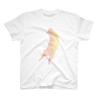 ねこ 桃の色 ゆとり T-Shirt