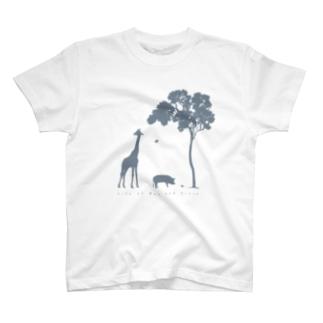 ブーさんとキリンの生活 T-Shirt