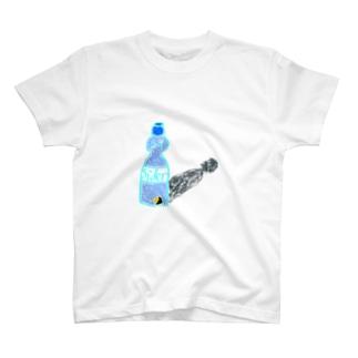 ビー玉 in サイダー T-shirts