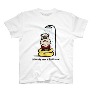 myうきわパグさん☆ T-shirts