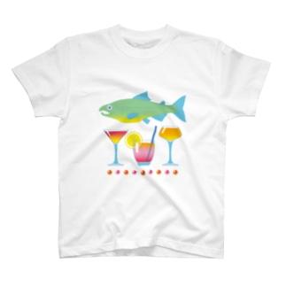 鮭とカクテル T-Shirt