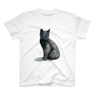 まっくろ子猫 Tシャツ