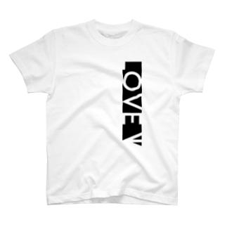 LOVE←白抜き T-shirts