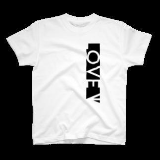 YükaCh!ka(ユカチカ)のLOVE←白抜き T-shirts