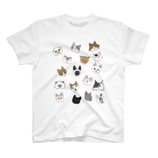 ねこづくしカラー T-shirts