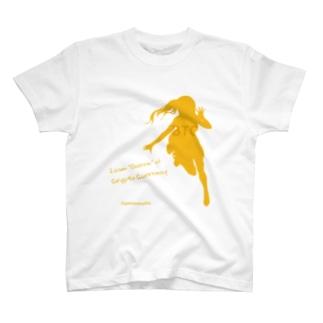 ビットコインちゃん シルエット T-shirts