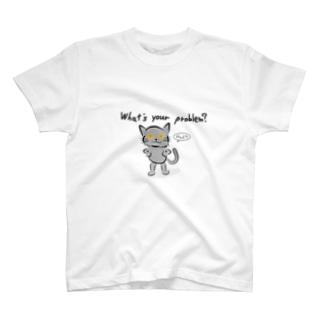威張りネコ T-shirts