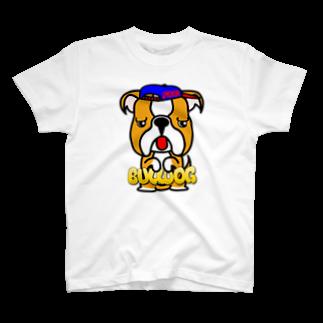 オリジナルデザインTシャツ SMOKIN'のちんちんブルドッグ T-shirts
